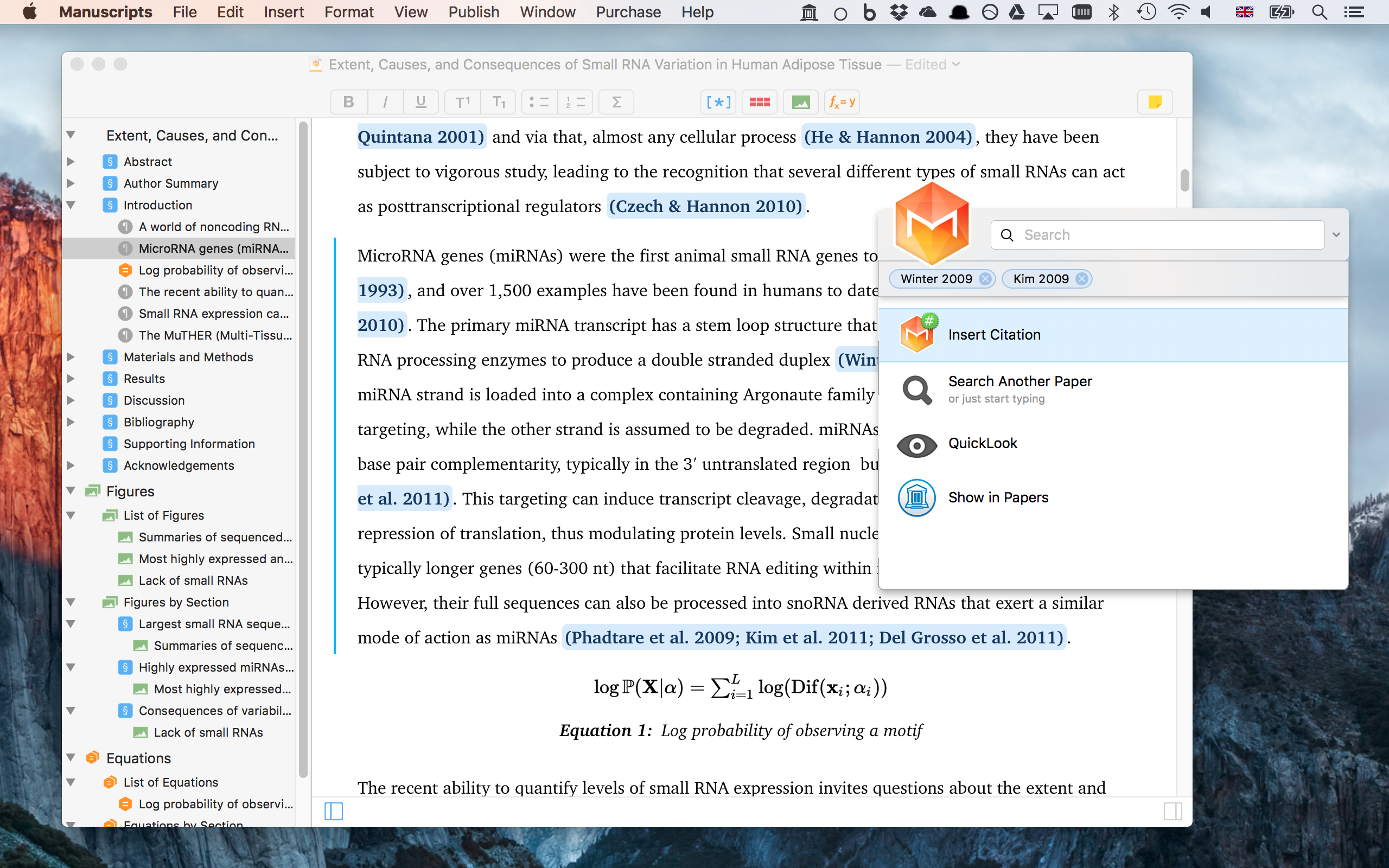 how to add citations in word on mac